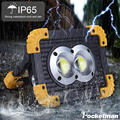 Tragbare 100 W LED Arbeit Licht USB Aufladbare Scheinwerfer Leistungsstarke Taschenlampe mit 18650 Batterey für Jagd Camping LED Laterne