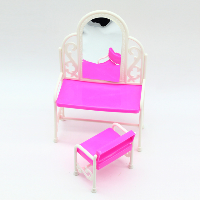 Funny Toys For Baby Girls Play House Toys Dresser Dressing Table With  Chairs Doll House For
