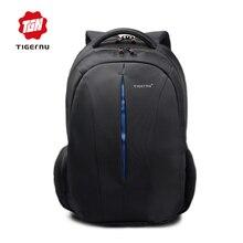 Tigernu mochila impermeable de los hombres de nylon negro back pack 15.6 pulgadas portátil mochila escolar mochilas de diseño de alta calidad masculina