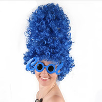 Marge Simpson High Blue Curls Wig For Halloween Costume Party Supplies