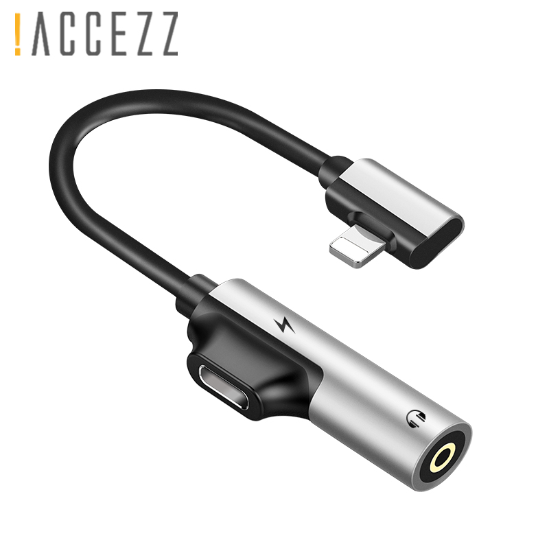 !ACCEZZ For Apple Adapter Fast Charging For Iphone X 8 7 10 Plus XS MAX XR Listening 3.5mm Jack Earphone Connector AUX Splitter
