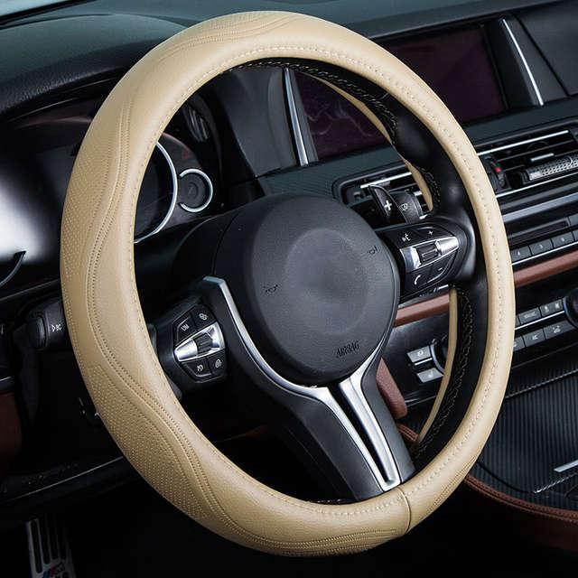 Чехол рулевого колеса автомобиля из натуральной кожи автомобильные  аксессуары для chevrolet