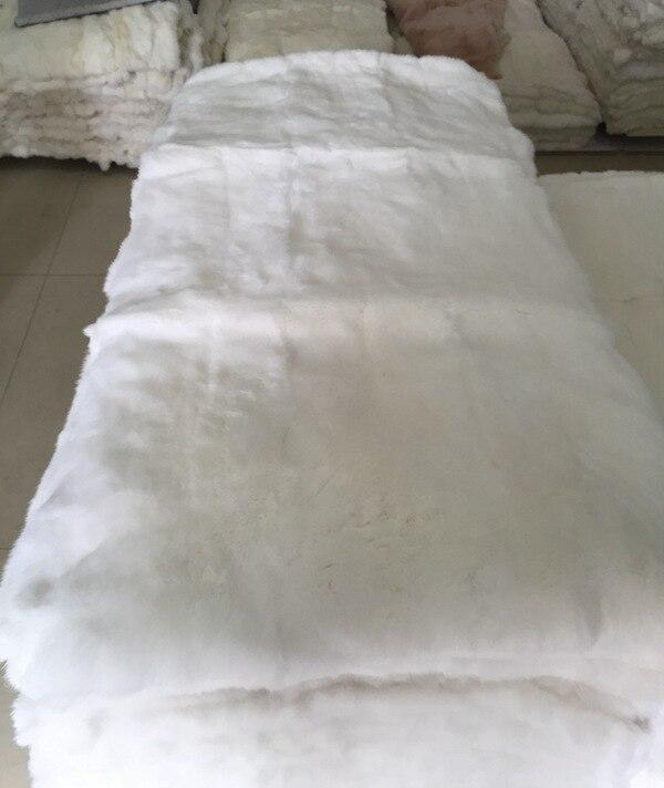 Rex couverture de fourrure de lapin réel tapis de fourrure/plaque de fourrure