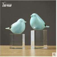 Wingbird имеет яркую белую деревянную основу птица керамическая положить в скандинавском стиле творческая обувь мебельный магазин положить пр