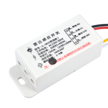 1PC New AC220V Switch Microwave Radar Body Sensor Switch Light Control Switch Delay Distance Is Adjustable Sensors