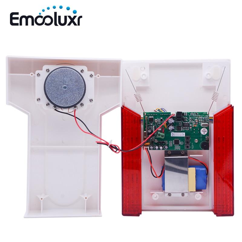 120dB Lound наружная водостойкая стробоскоп сирена со светодио дный светодиодной мигающей MD-334R для фокусировки сигнализации GSM ST-VGT, ST-IIIGW Беспроводная сигнализация для дома