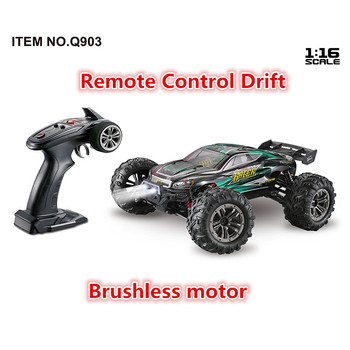 52km/h High Speed Brushless motor Professional 2.4G 4WD 1:16 Remote Control Rc Racing Car with led light RC Drift toy RTR Gifts image