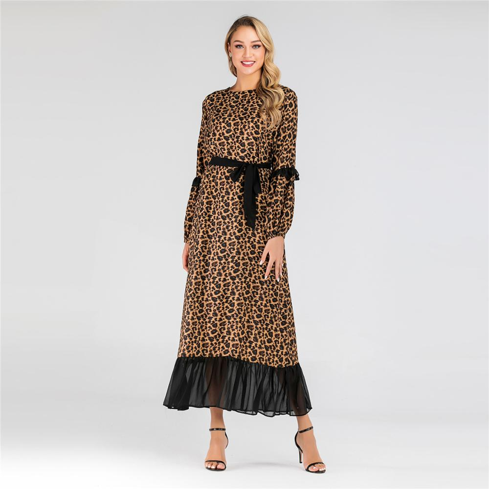 US $28.86 49% OFF|Women Muslim Leopard Dress Plus Size Dubai Abaya Kaftan  Robe Vestidos Arabes Turkey Large Caftan Islamic Maxi Dress Femme S 3XL-in  ...