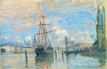 Paintings for bedroom The Seine at Rouen Claude Monet reproduction art High quality Hand painted