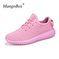 MangoBox נעלי ריצה לנשים אביב קיץ לנשימה נעלי ספורט ילדה ורוד סגול נשים תחרה עד נעלי ספורט אתלטי