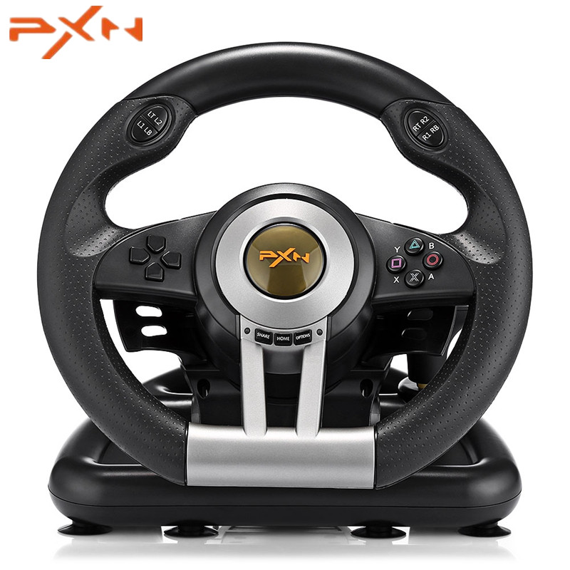 все цены на PXN V3II Racing Game Steering Wheel USB Vibration Dual Motor with Foldable Pedal for PS3 PS4 Xbox One Gaming Remote Controller