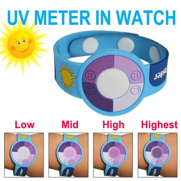 Test Uv Cadeau 30 pcs/Lot UV Bracelet Montre pour Tester les Rayons  Ultraviolets Uv