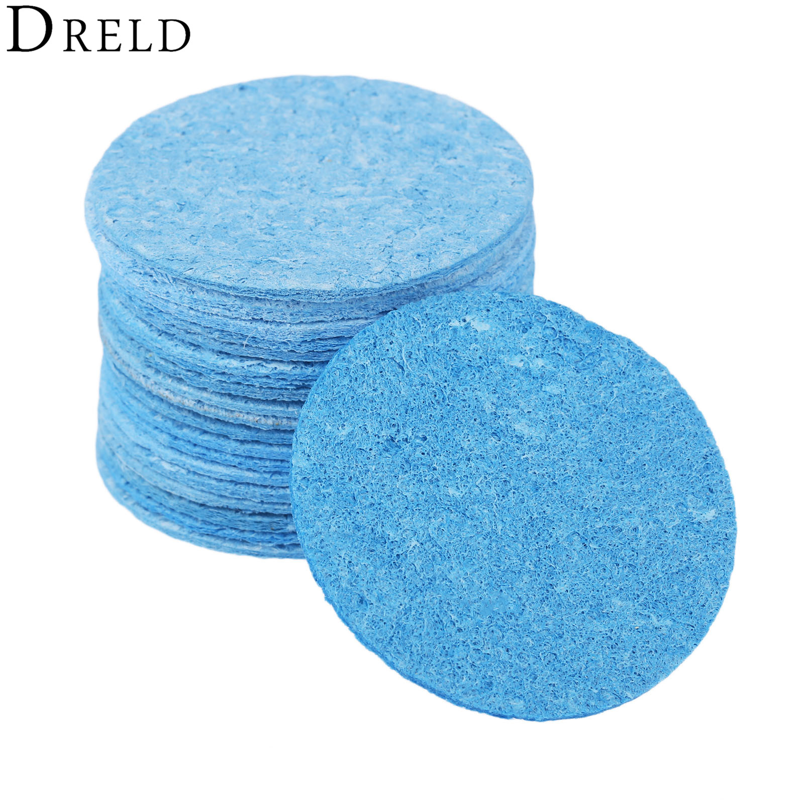 DRELD 20pcs Soldering Iron Solder Tip Welding Cleaning Sponge Pads ...
