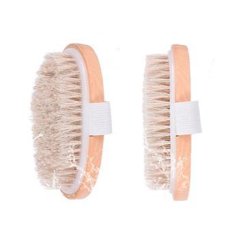 Female Dry Skin Body Brush Massager Natural Bristles Wood Improve Skin's Healthy LX7072