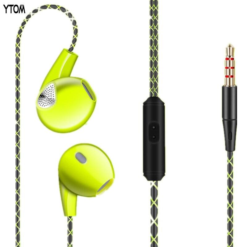 YTOM YT06 Jack Basse Filaire Écouteurs pour Téléphone avec Mic Microphone In-Ear Casques Standard stéréo Écouteurs 3.5mm casque