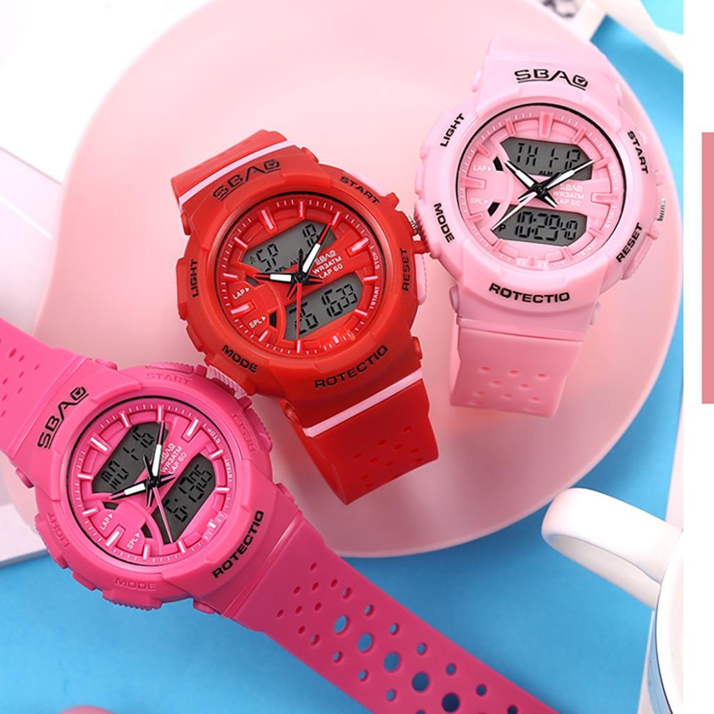 Women's Watches Outdoor Sport Waterproof Calendar Multi Function Electronic Woman Watch Digital Led Sports Reloj Mujer Digital