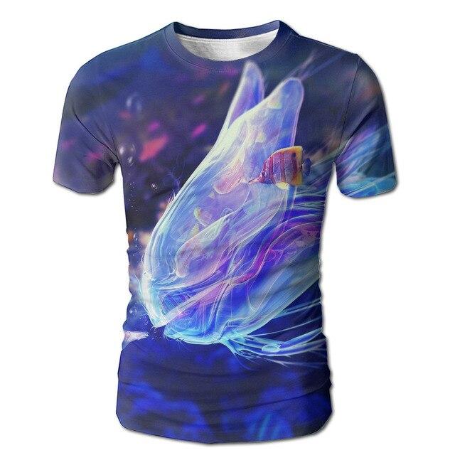 Dutrodu Men S Tropical Fish Custom Full Print Sublimation Digital White