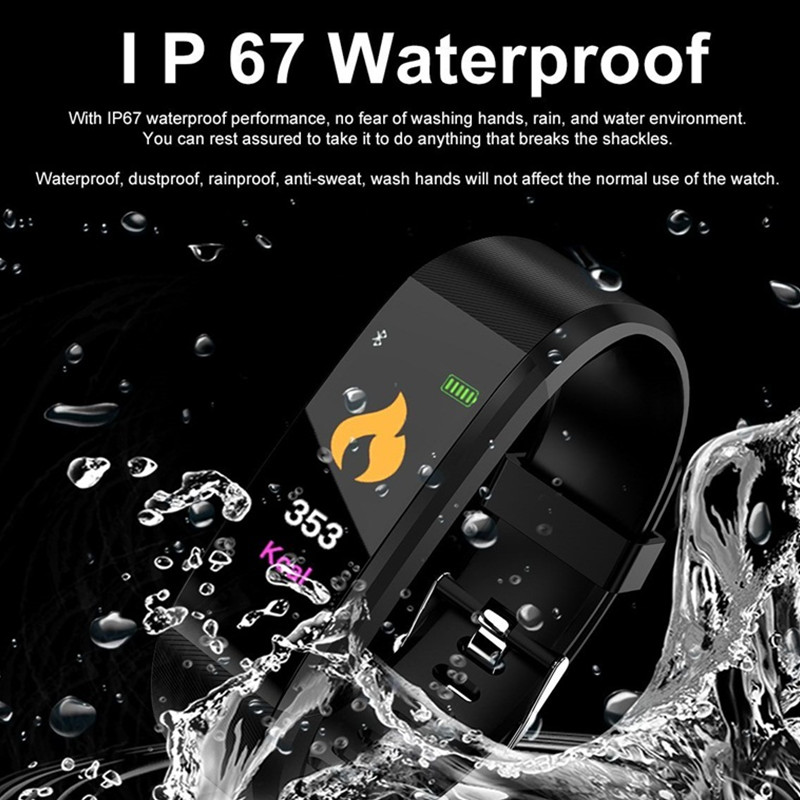 ID115 PLUS Heart Rate Smart Bracelet Bluetooth Smart Band 0.96 OLED Alarm Clock Watch Call Alert Sports Fitness tracker