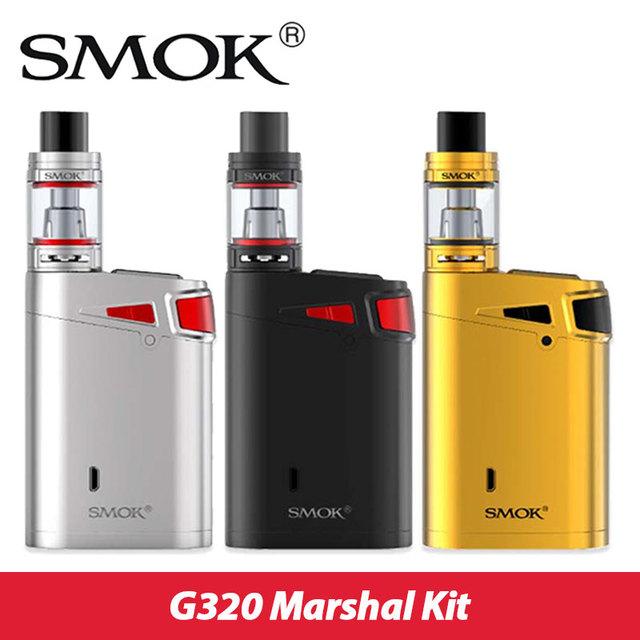 Original smok g320 mariscal starter kit max 320 w w/smok tfv8 grande tanque del bebé 5 ml y caja smok mod vs g-priv g320 pantalla táctil 220 w