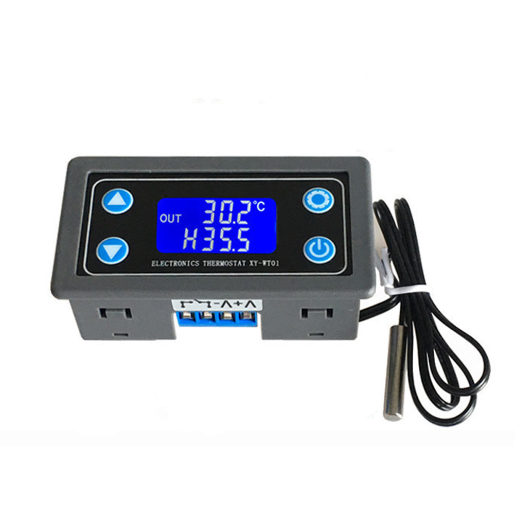 12V 24V Thermocouple Indoor Ventilation Digital Temperature Controller LCD Display Powerful Thermal Thermostat 10A Digital
