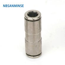 10Pcs/lot MPUC04 All Metal Fittings Union Straight Outside Diameter 04 quick connecting pu tube fitting