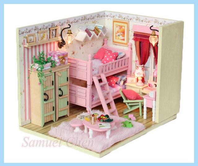 Sisters Room Diy House Handmade 3d Wooden House Christmas Gift