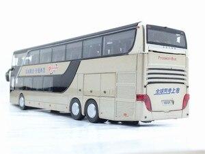 Image 5 - Di alta qualità di 1:32 della lega di tirare indietro modello di autobus di alta simitation Doppia sightseeing bus flash veicolo del giocattolo giocattoli per bambini spedizione gratuita