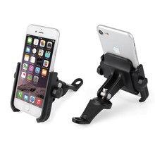 Universal aleación de aluminio retrovisor motocicleta titular del teléfono  para iPhoneX 8 7 6 s soporte 3cd74795c737
