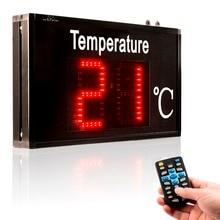 Термометр, промышленный температурный дисплей, большой экран, высокоточный светодиодный дисплей для заводских мастерских, лабораторных, складских теплиц