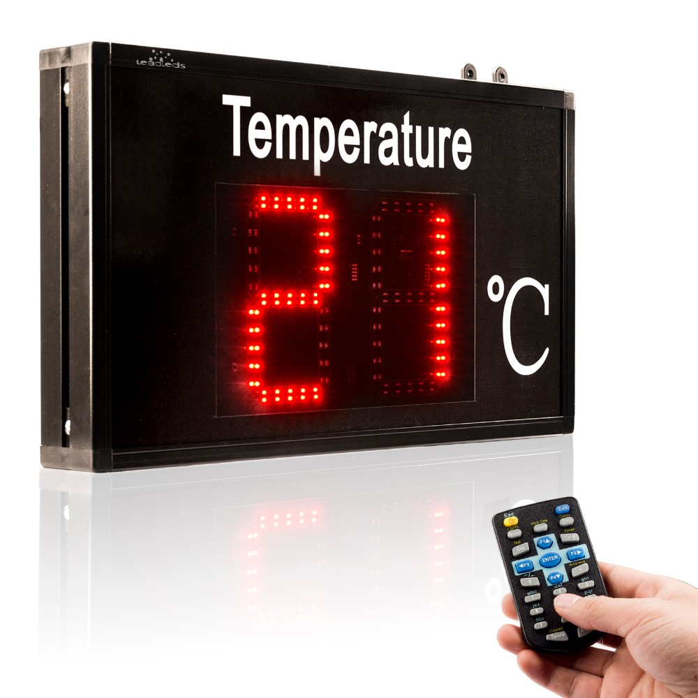 Thermometer Industrial Temperature Display Large-screen High-precision LED Display For Factory Workshop Lab Warehous Greenhouse