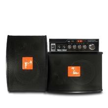 6.5 inch home KTV speaker karaoke card pack amplifier home theater, send 2 ktv wired hand-held microphone