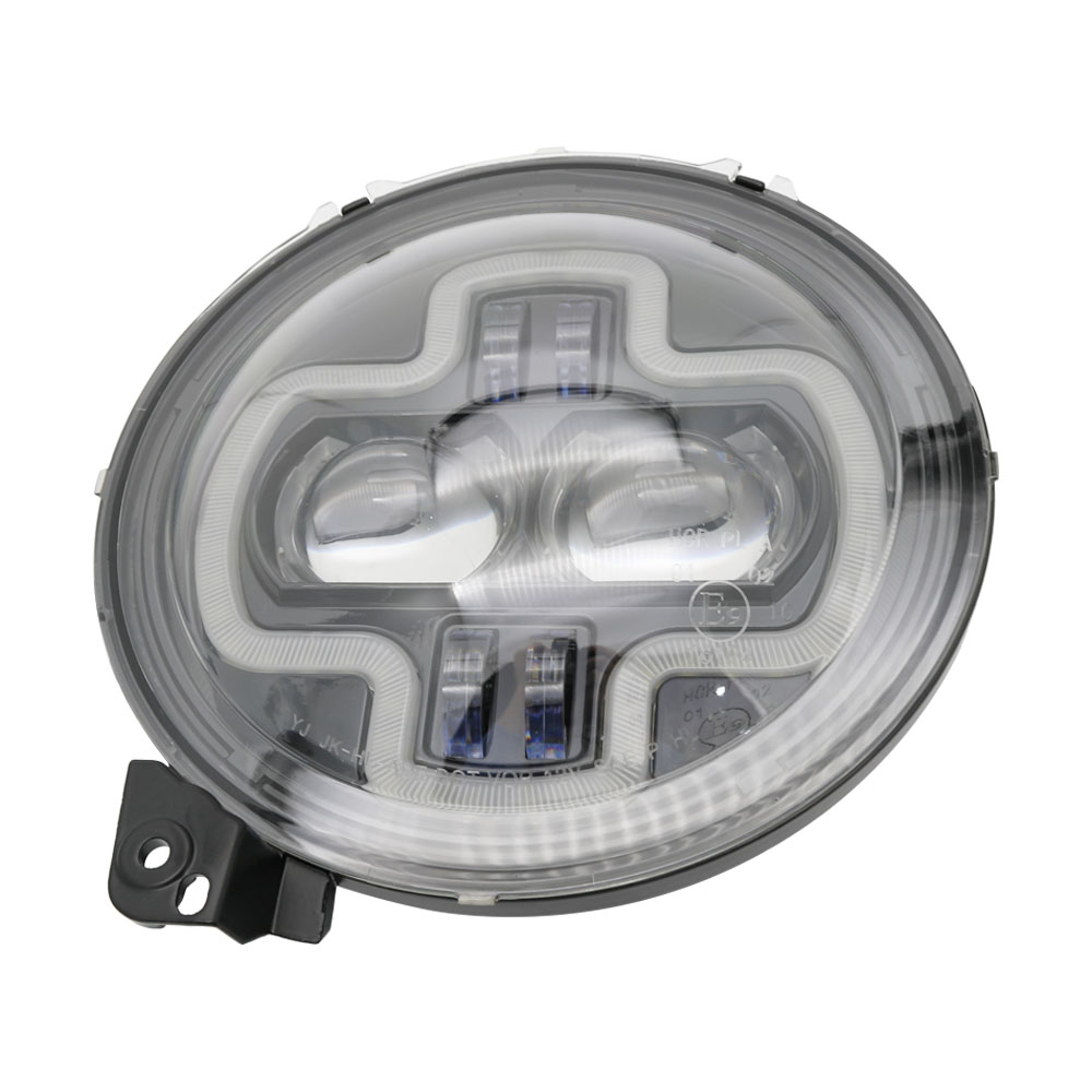 Car Lights 9inch Round LED Headlight White DRL Halo Ring Plug in Play for 2018 2019 Jeep Wrangler JL Car Headlight Assembly (31)