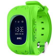Q50 kid gps smart watch reloj de la pantalla oled de bebé original Localización GPS Smartwatch w/Anti-Lase Sensor Ayuda 2G Sim de la Red tarjeta