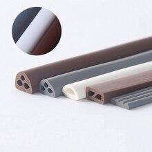 цена на Silicone Rubber Adhesive Seals Sliding Door Window Weatherstrip Cupboard Wardrobe Gasket 9 x 2mm 4mm 6mm 8mm 6m Gray White Brown
