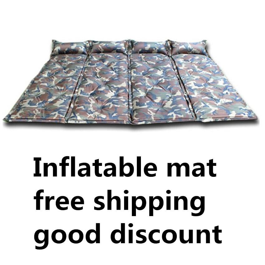 Camouflage kültéri automata felfújható matrac párna pad vastag - Kemping és túrázás - Fénykép 3