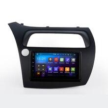 2 DIN Araba GPS ile Honda Civic Hatchback 2006-2011 konsol boyutu 176mm * 101mm Kapasitif ekran Çift Çekirdekli 1G RAM Stereo NAVI