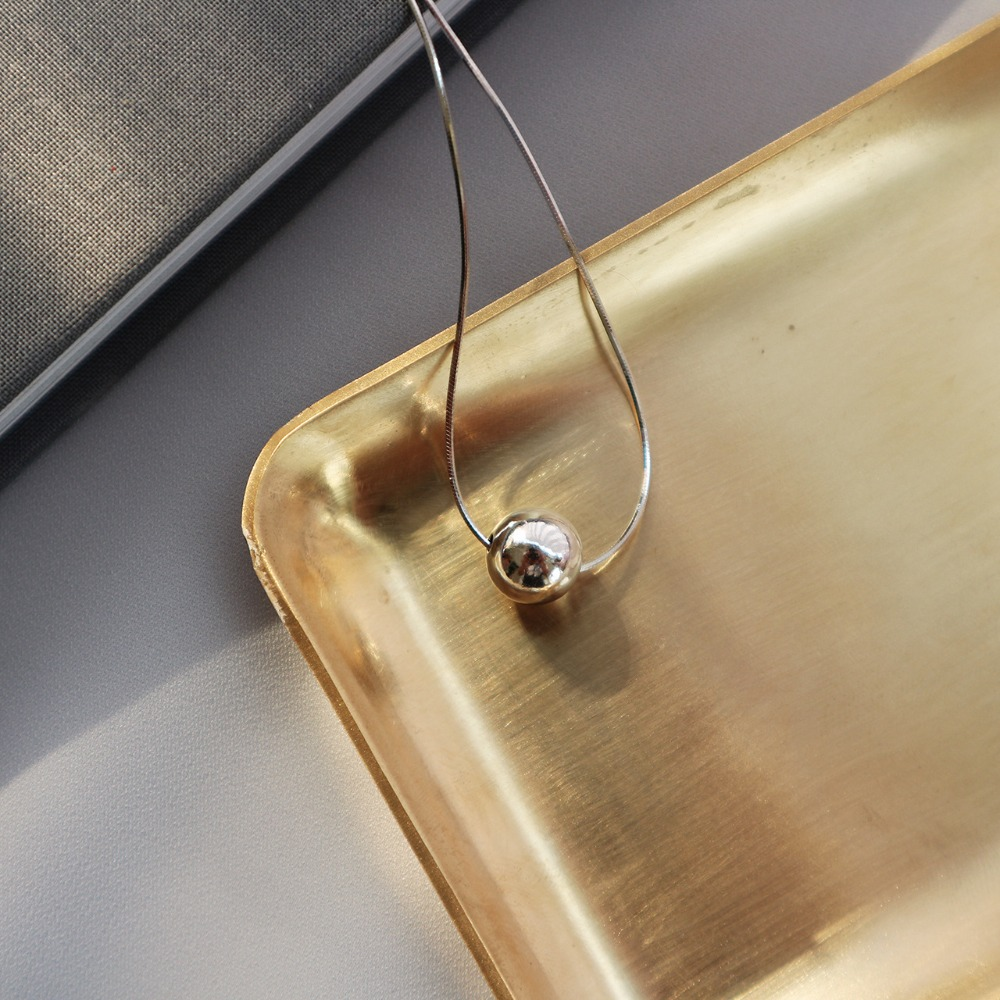 10mm Authentische 925 Sterling Silber Snakebone Kette Mit Poliert Glück Runde Ball Anhänger Choker Halskette Charms Geschenk X98