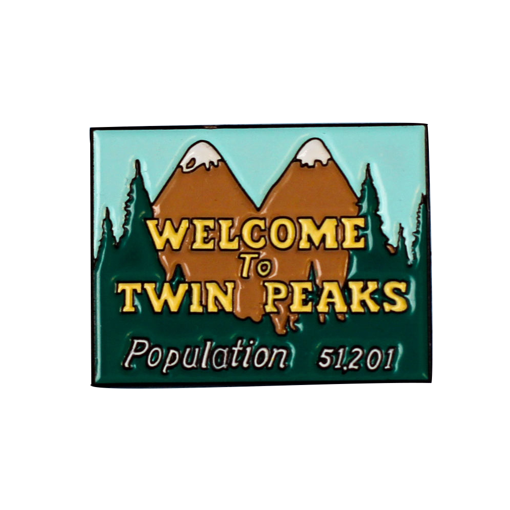 Welcome To Twin Peaks soft enamel lapel pin badge-in Pins & Badges from Home & Garden