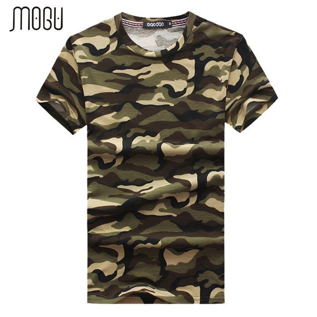 Camuflagem moda Camisetas Homens 2017 Verão de Manga Curta O-pescoço camisa Dos Homens T Shirts Plus Size 5XL-M Algodão Casual T-Shirts homens