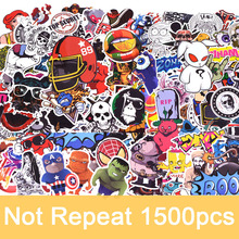 1500pcs/pack Random Not Repeat Graffiti Anime Cool Stickers Kid Toy