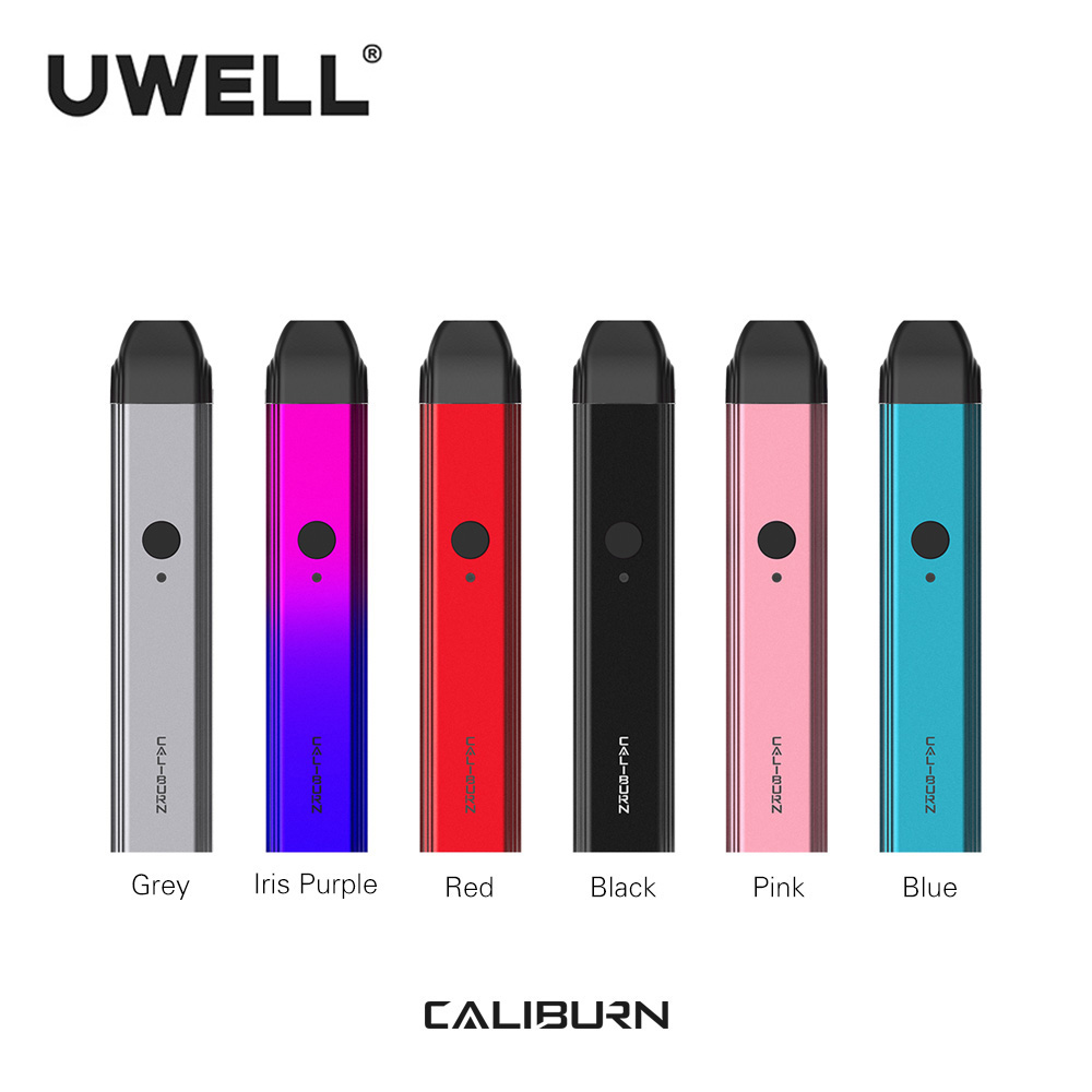 Auf Lager!!! UWELL Caliburn Tragbare System Kit 2ml Pod Patrone 11W 520mAh Elektronische Zigarette Kit Vape Pod