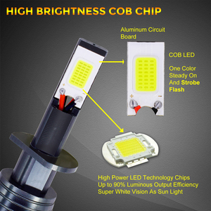 Image 3 - 2Pcs 스트로브 LED 자동차 안개 램프 12V H1 H11 H8 H7 H3 9005 9006 HB3 HB4 880 881 플래시 COB LED 안개 전구 흰색 노란색 파란색