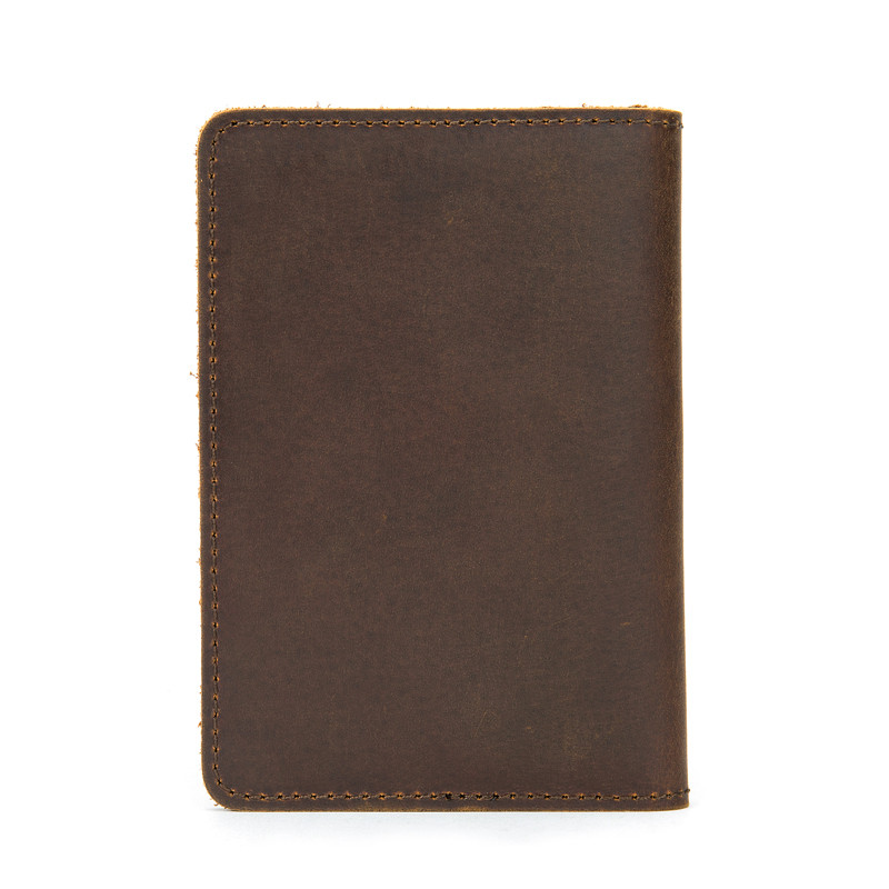 PNDME handmade simple retro crazy horse cowhide thin credit card wallet genuine leather luxury ID Holders waterproof money clips in Card ID Holders from Luggage Bags