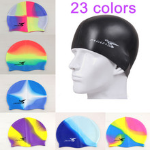 2016 Professional High Quality Silicone font b Swim b font Cap Waterproof Protect Ears Long Hair