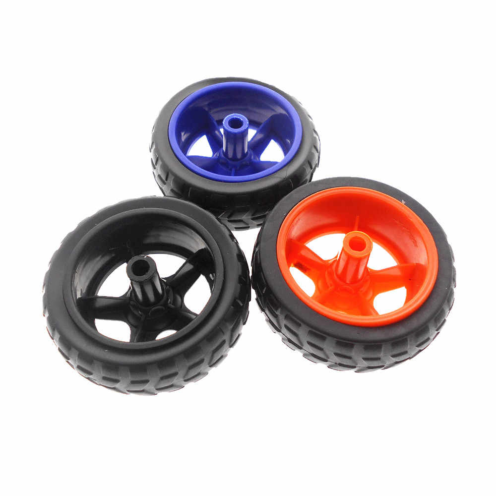 Игрушка 4WD умный автомобиль TT колесо робот резина для шины колесо умный автомобиль «сделай сам» упаковка TT Мотор цветной робот колесо Трассировка линия автомобильные аксессуары