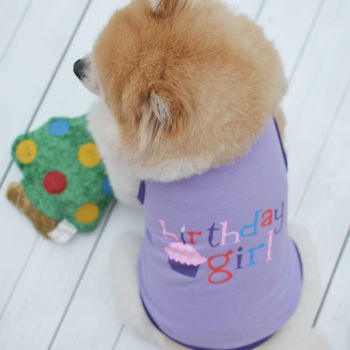 1 PC Summer Pet Clothes For Small Middle Dog Cat XS-L Boy Girl Birthday Cute Cake Printed Pet Vest T-Shirt Hot Sale