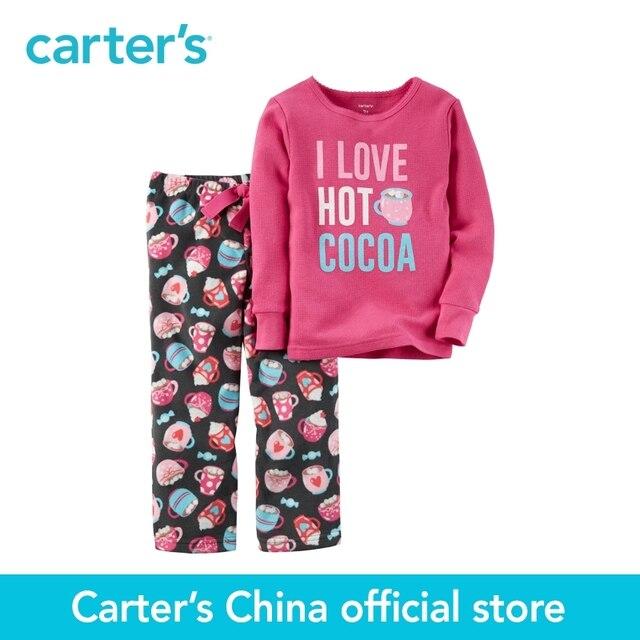 Картера 2 шт. детские дети дети 2-х Частей Хлопок и Флис PJs 337G217, продавец картера Китай официальный магазин