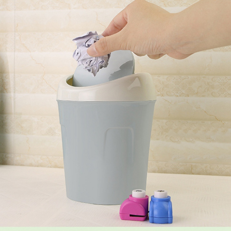 Creative Plastic Cover Desktop Kitchen Desktop Mini Wastebasket Desktop Organizer Household Supplies Small Trash