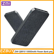 Xiaomi ZMI QB910 10000mAh Power Bank Type-C 2-way 18W Fast Charging Portable External Battery USB Hub for iPhone -Dark grey