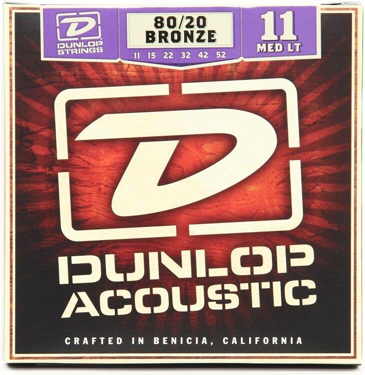 Dunlop 80/20 Bronze Light 12-54 or Medium Light 11-52 Acoustic Guitar Strings